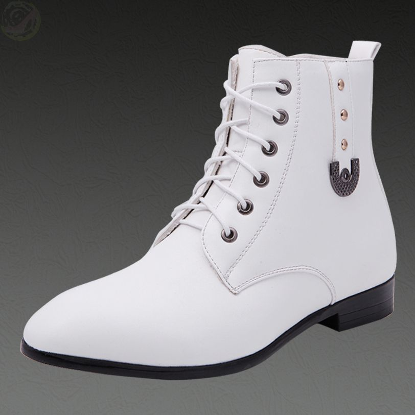 Mens White Leather Boots Promotion-Shop for Promotional Mens White ...