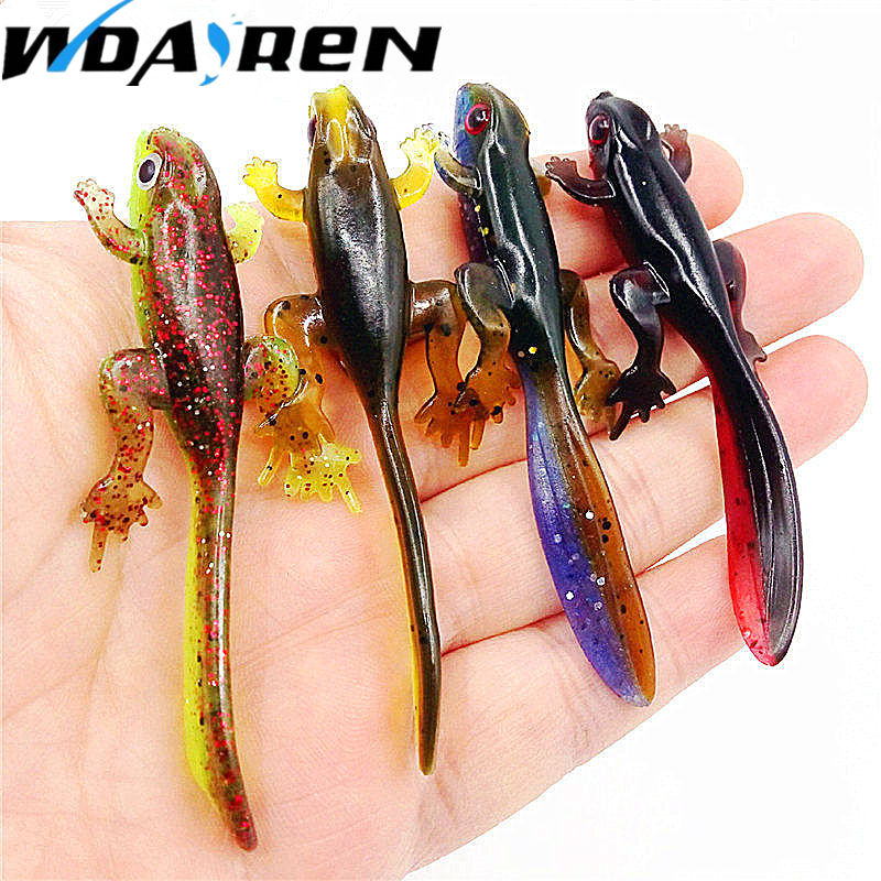 New Arrival 80mm 3.8g 6pcs Plastice silicone bait Worms Fishing Lure Smell Attractive Fish Crab Fishing Bait Soft Bait FA-338