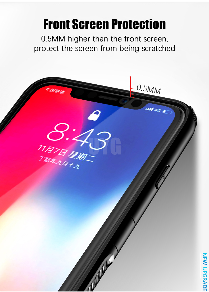 Luxury Leather texture Bracket case For iPhone x xs max xr Shockproof armor cover For iphone 6 6s 7 8 plus case with ring holder (9)