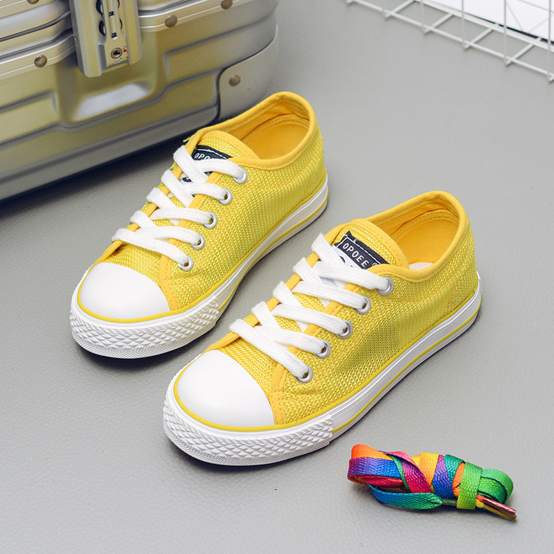 2018 New Fashion Kids Canvas Shoes Children Candy Colors Boots Boys & Girls Shoes Casual ...