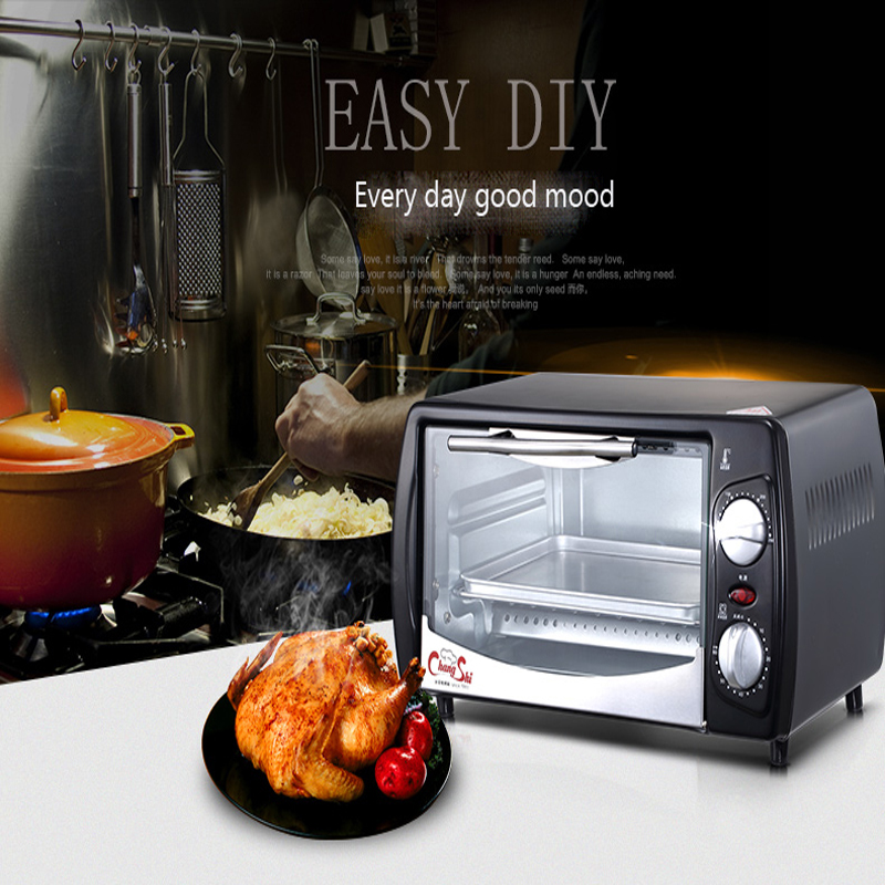Household Baking Mini Oven 12L Stainless Steel Electric Oven Cake Toaster pizza oven Kitchen Appliances 1pc kitchen appliances household baking mini oven 12l stainless steel housing glass electric oven cake toaster