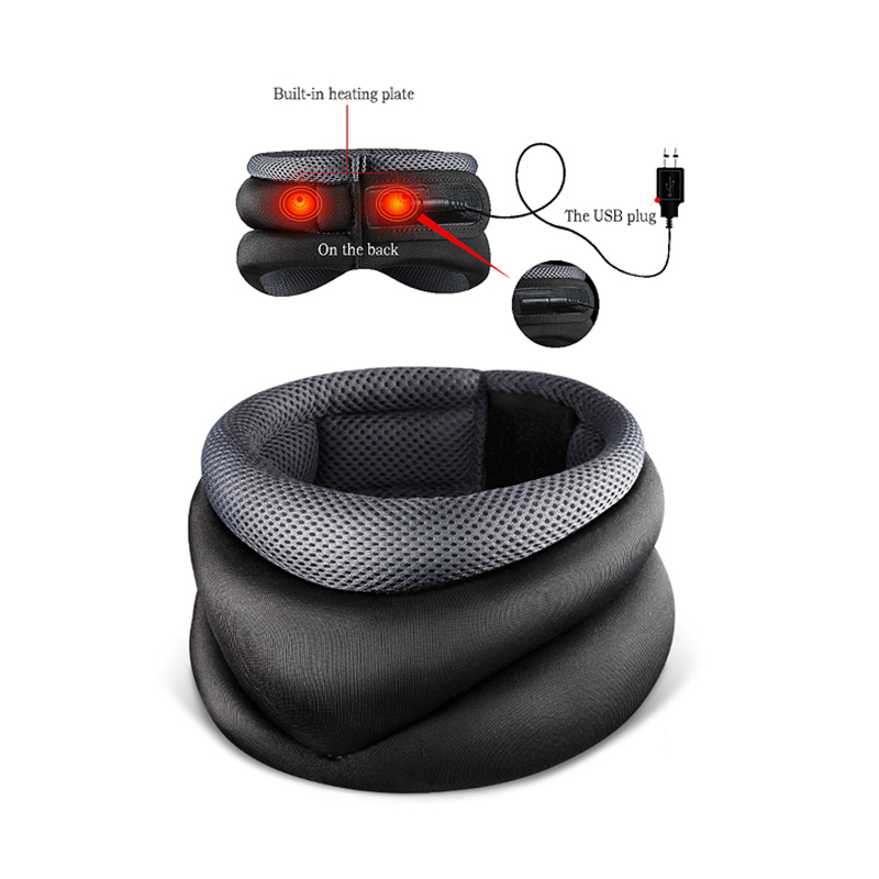 Soft Breathable Neck cervical traction device adjustable collar Head Back Shoulder Neck Pain Headache health care massage device inflatable neck cervical vertebra traction soft brace support device for headache head back shoulder neck pain health care