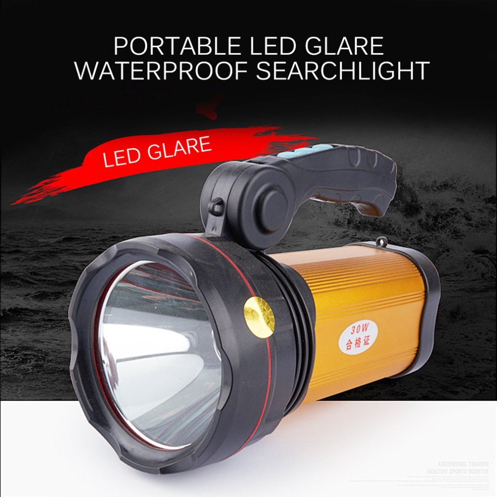 Rechargeable Aluminum Alloy Flashlight Portable LED Light Waterproof Long-Range Spotlight Outdoor Searchlight Miner's Lamp portable flashlight torch light led rechargeable searchlight 30w long range bright spotlight for hunting and camp