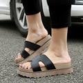 2017 Новые туфли женщина Сандалии ИСКУССТВЕННАЯ Кожа Римские Сандалии Летняя Обувь Флип-флоп Женщин Тапочки Обувь размер 34-43 ML19