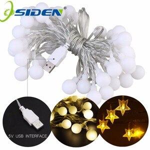 Image 1 - OSIDEN כדור מחרוזת אורות כוכבים USB 5 V 10 M 60LED חג תאורה חיצוני עמיד למים עבור מסיבת חתונת חג המולד גן