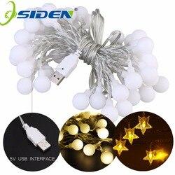 Łańcuchy świetlne OSIDEN Ball Star USB 5V 10M 60 led oświetlenie świąteczne na zewnątrz wodoodporne na wesele boże narodzenie ogród w Girlandy świetlne od Lampy i oświetlenie na