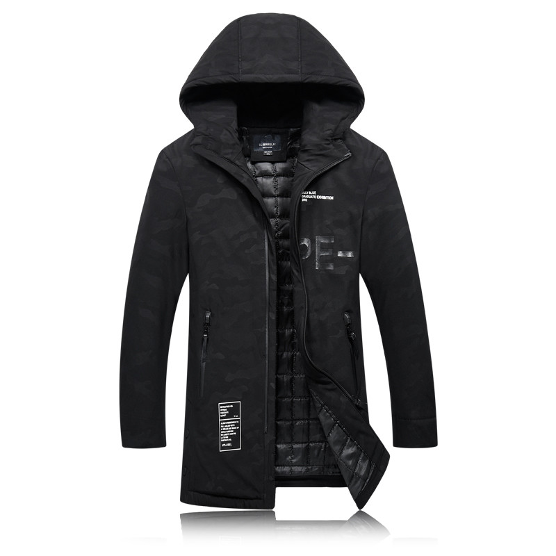 2016 winter men s thick High quality cotton quilted jackets trench coat More men s fashion