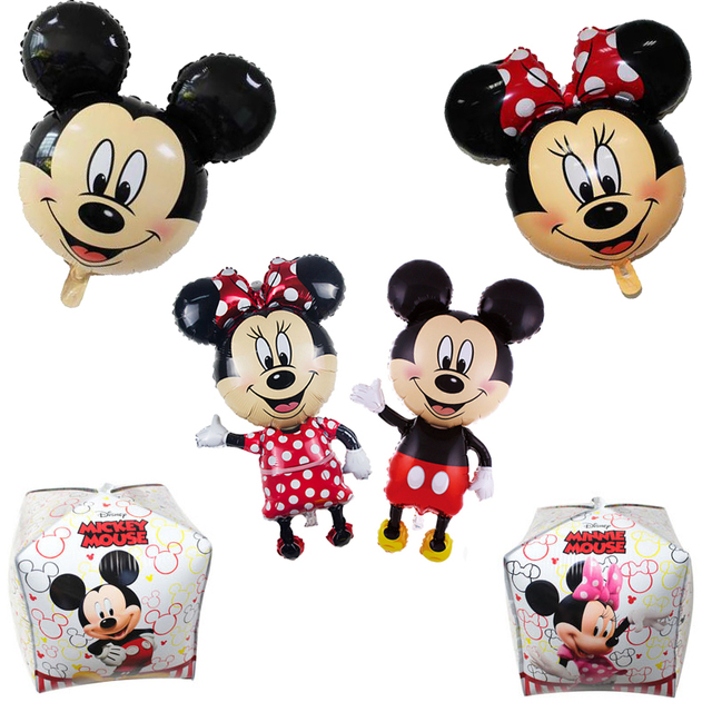 6Pcs Mickey Mouse Minnie Foil Balloon Kids Birthday Party