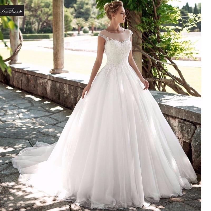 Vestido De Noiva Renda Vintage Lace Princess Wedding Dress: Bridal Gown Ball Gown Lace Princess Wedding Dresses
