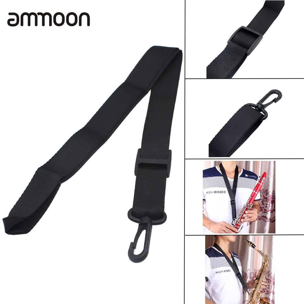 Adjustable Saxophone Sax Clarinet Neck Strap With Hook Clasp Durable Light-weight Wind Instrument Parts And Accessories