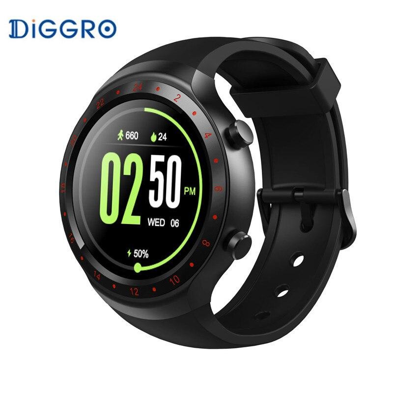 Diggro DI07 MTK6580 1.1 GHz Soutien 3G Wifi montre intelligente Nano SIM GPS Appelant moniteur de fréquence Cardiaque Podomètre pour IOS Android