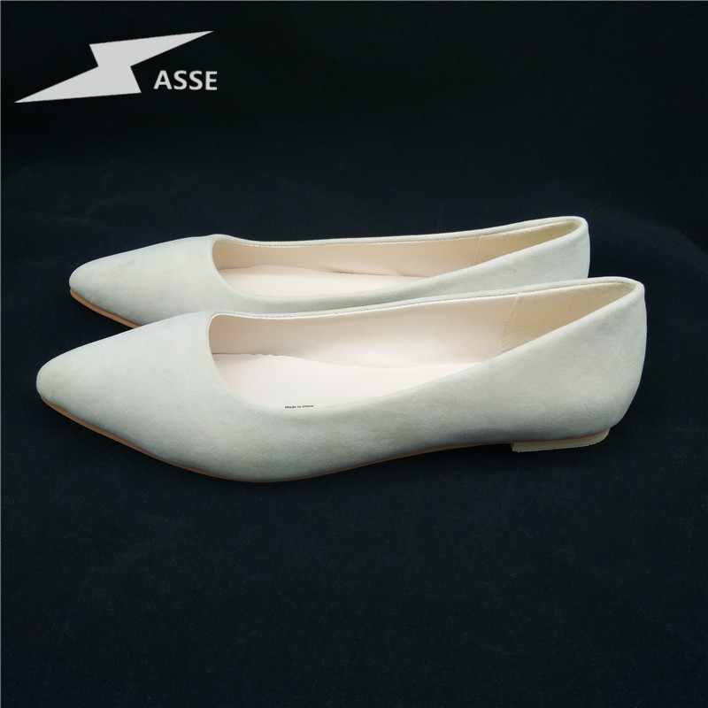 2017 top summer New Women Fashion Flats high quality suede Casual Comfortable pointed toe Rubber Women Flat Shoes Mujer S156 fashion women shoes woman flats high quality comfortable pointed toe rubber women sweet flats hot sale shoes size 35 40