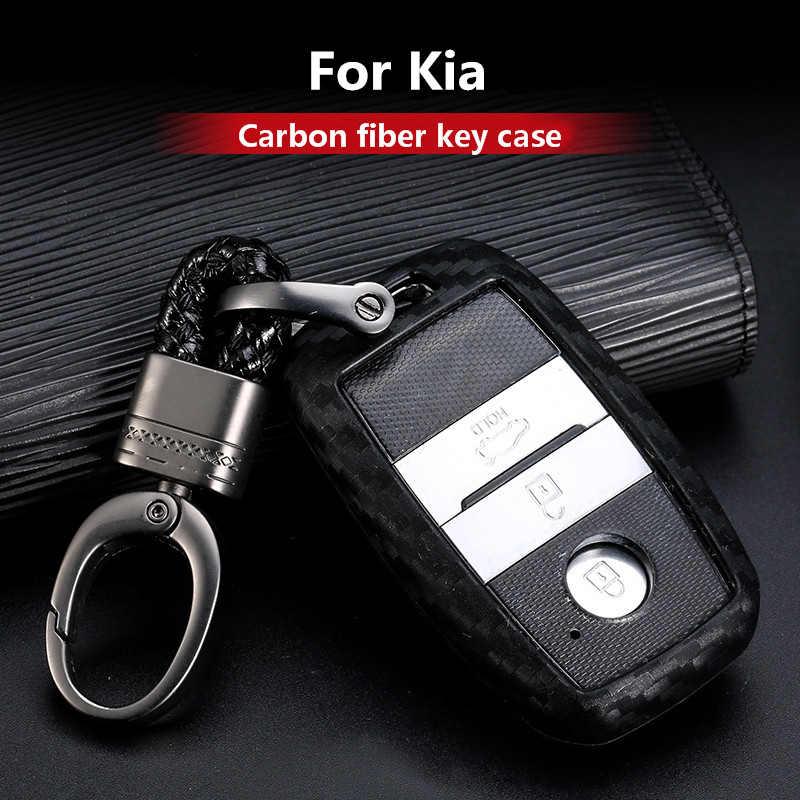 2019 炭素繊維シリカゲル車のキーケースカバーホルダーキーチェーンリング起亜 K4 K5 KX3 KX5 KX7 ソレントアクセサリー車のスタイリング