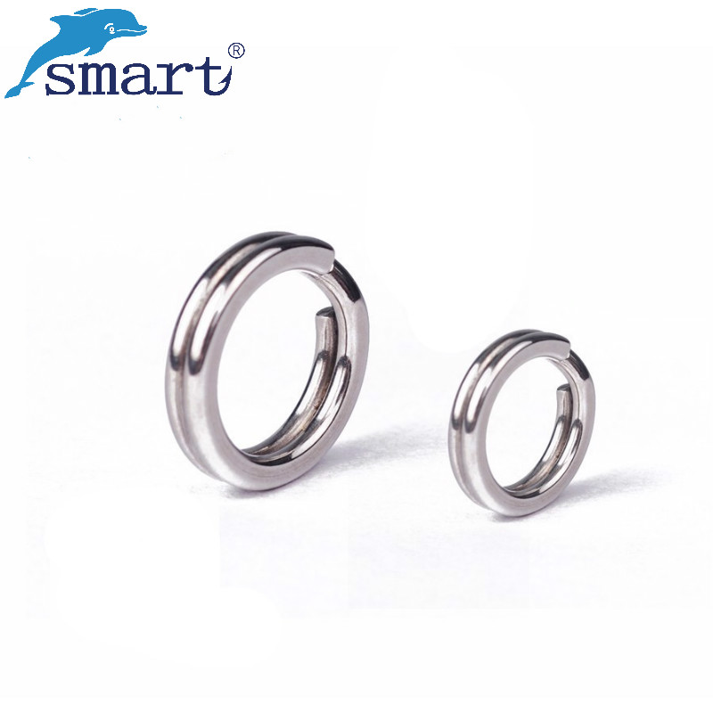 50Pcs/Pack Fishing Split Rings Stainless Steel Open Jump Ring 2.5mm-5.5mm Sliver Plated  ...