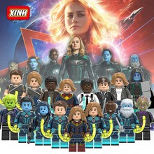 Captain Marvel Carol Danvers Accuser Ronan Nick Fury Skrull Mar-vell Toys Super Heroes Building Blocks Legoings(China)