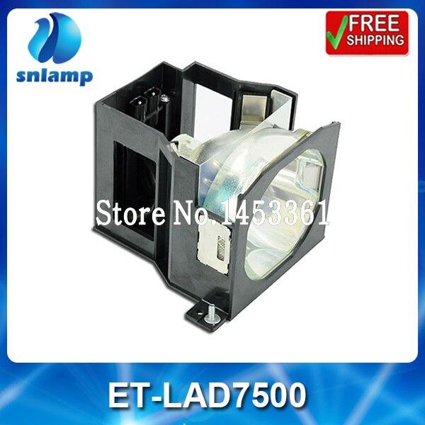 Replacement projector lamp bulb with housing ET LAD7500 for PT D7500 PT D7600