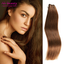 Peruvian Weave Straight 18-22 inches 100 Virgin Human Hair Weave Brown Bundle deals 1pcs/lot Human Hair Extensions Cheap Price