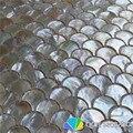 Перламутровая мозаичная плитка Whitelip  для кухни  для фонового всплеска и ванной  натуральный морской корпус  белый цвет  5 квадратных футов/па...