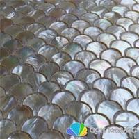 Whitelip оболочки перламутр мозаика для кухни щитка и ванная комната Natural Sea Shell белого цвета 5 квадратных футов/серия