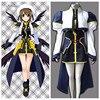 Ainclu Top Selling Magical Girl Lyrical Nanoha Anime Hayate Yagami Halloween Cosplay Costume Customize For Plus