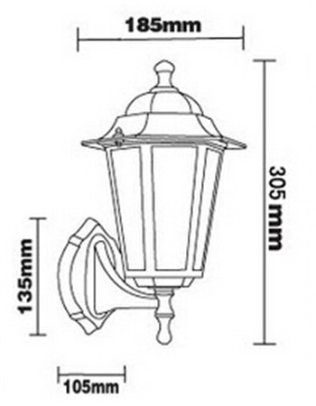 European Hexagonal Outdoor Wall Lamp Porch Lights Villa Balcony Garden Vintage Waterproof IP67 E27 DY 1451 In Lamps From