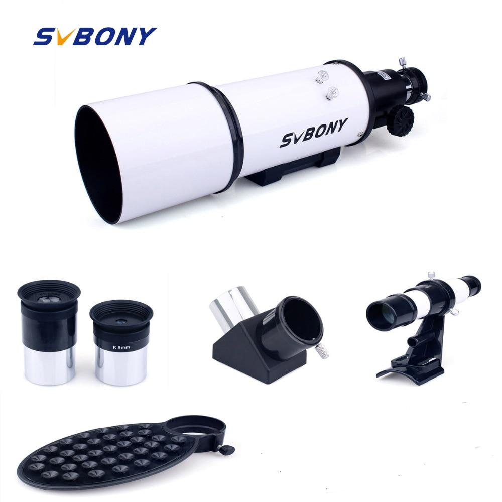 Svbony SV20 телескоп астрономический 80 мм оты Пособия по астрономии полностью покрытием Стекло оптический 54 Алюминий сплава фотографическое ...