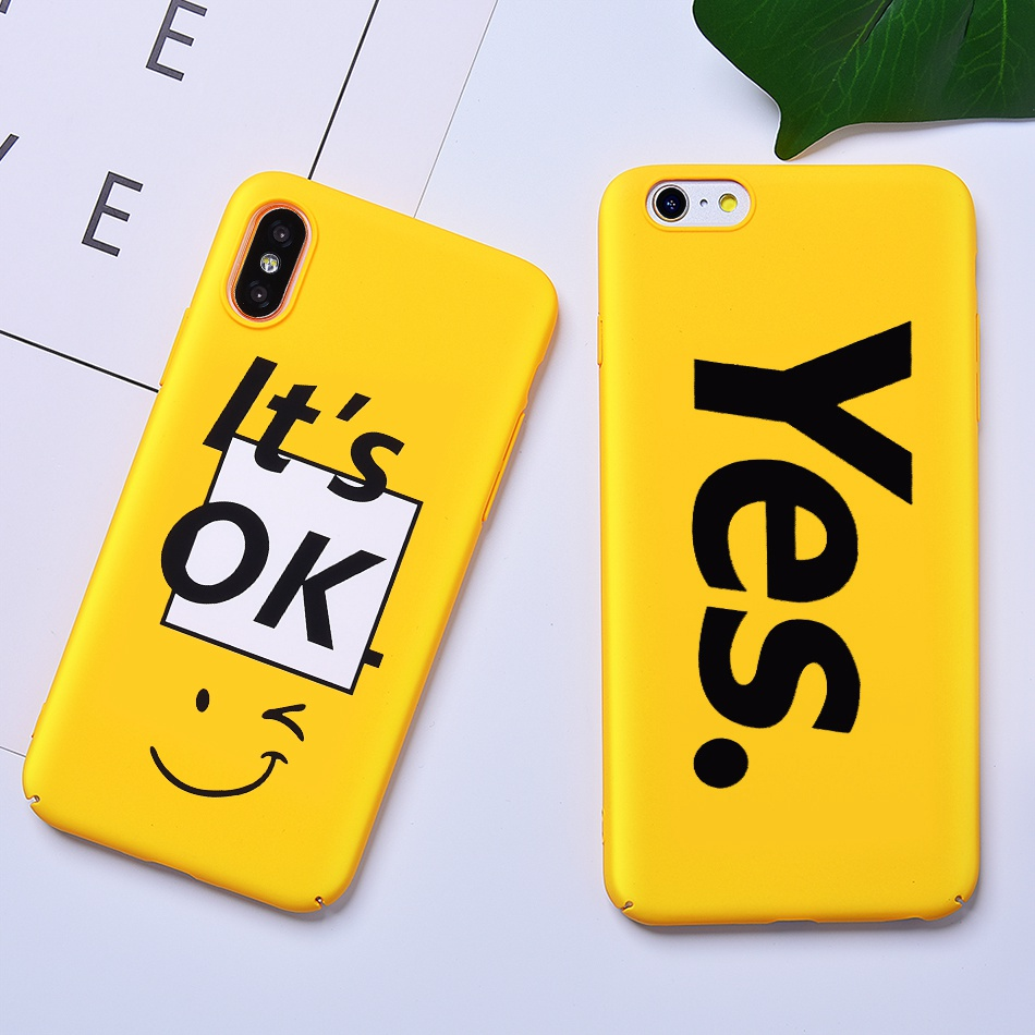 TOMKAS Funny Slogan Phone Case for iPhone 6 6S 7 8 Plus Case for iPhone X 6 S Yellow Back Cover Case for iPhone 7 Plus Coque (2)