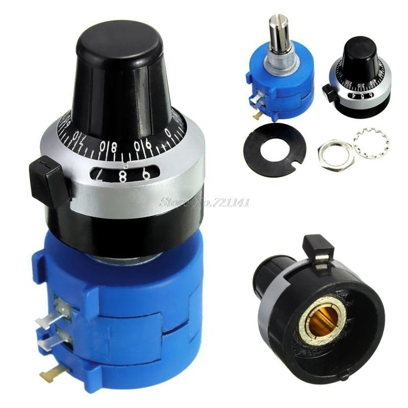 1 pc 10 k ohm 3590s-2-103l potenciômetro com 10 voltas contando dial botão rotativo componentes eletrônicos dropship