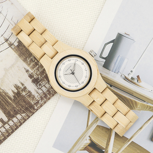 Image 4 - בובו ציפור שעון נשים במבוק זברה עץ אבני חן לחקות יוקרה מותג קוורץ שעונים בעץ תיבת XFCS relogio feminino W O29
