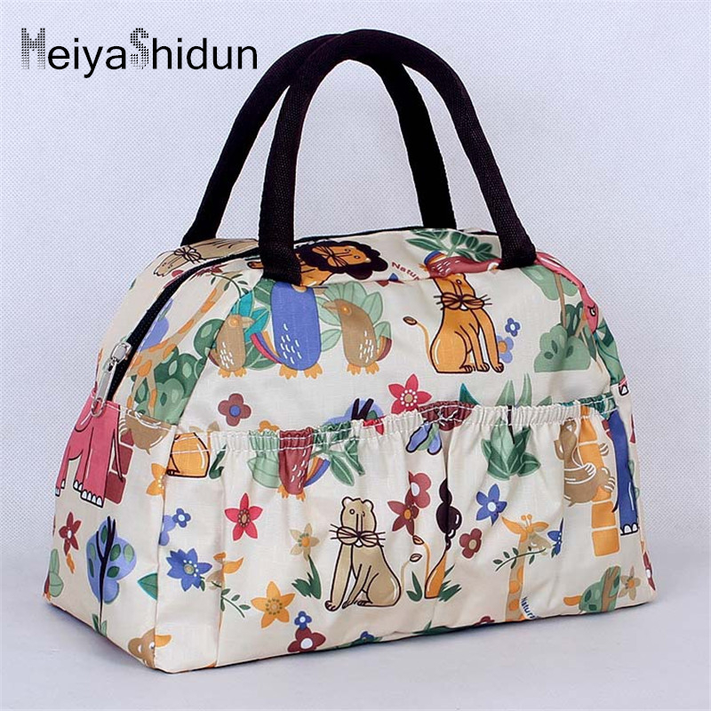 Meiyashidun Fashion Portable Insulated lunch Bags Thermal Food Picnic Lunch handbags Women kids Cooler Storage Bento pouch Totes aaa quality thermal insulated 3d print neoprene lunch bag for women kids lunch bags with zipper cooler insulation lunch box