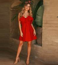 Модное праздничное платье с высокой талией на шнуровке сексуальное