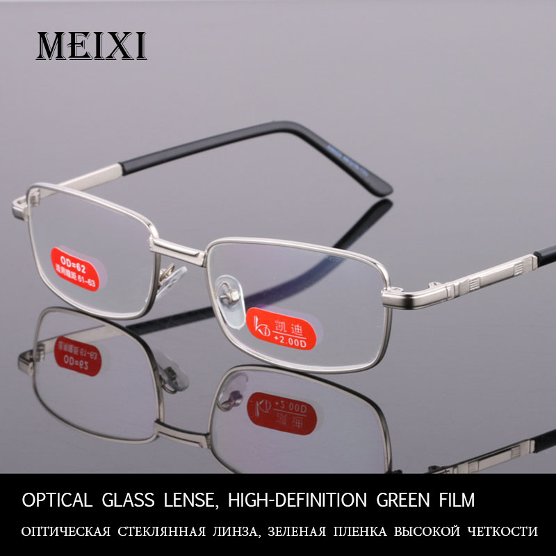 Optical Glass Lense, High-definition Green Film Reading Glasses Women Men Unisex Eyewear +1.0 1.5 2 2.5 3 3.5 4 4.5 5 5.5 6