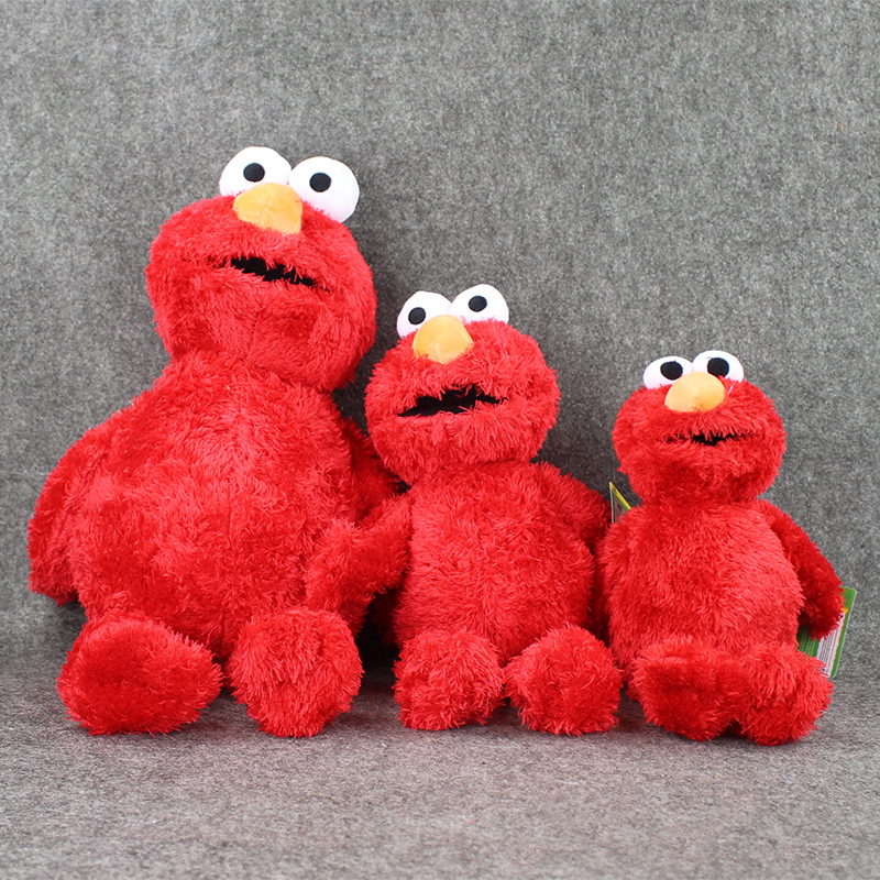 3styles Hot Selling Anime Cartoon Sesame Street Elmo Plush Toys Soft Stuffed Red Dolls For Children Collectible Gifts 36-55cm Lustrous Surface