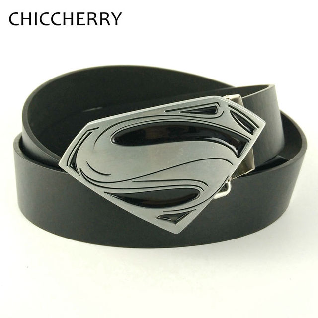 Mens Big Superman Belt Buckle Ceinture Homme Cowboys Fivela De Cinto Super Man Cinturones Hombre Hip Strap Men Belts For Jeans
