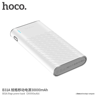 HOCO White Thin Power Bank Dual USB 2 1A Charger External Battery For IPhone X 6