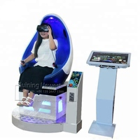 One Player 9D VR Amusement Park Equipment Interactive Virtual Reality 9DVR Simulator Egg Chair Cinema Movie Arcade Game Machine