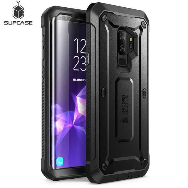 For Samsung Galaxy S9 Plus Case SUPCASE UB Pro Full Body Rugged Holster Protective Case with Built in Screen Protector Cover