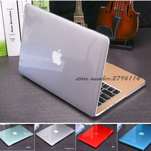 2017 New Crystal Matte Transparent case For Apple Mac book Air Pro Retina 11 12 13 15 laptop bag for Macbook Air 13 Case cover transparent black crystal case for nds lite