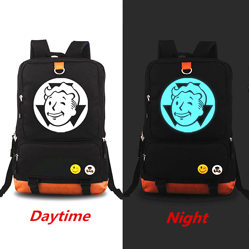 цена на New Arrivals Fallout 4 Luminous Backpack Mochila Rucksack Fashion Laptop Backpacks Student School bag Large Capacity Travel Bags