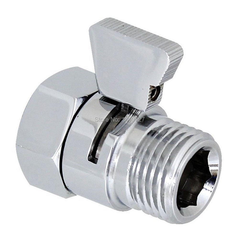 Bagnolux High Quality Wholesale Promotion New Brand Polished Chrome Shower Head Shut-Off Valve Brass with Brass Handle mini brass ball valve panel mountable 450psi with lever handle chrome plated malexfemale npt