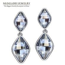 Neoglory Ювелирные изделия с элементами Swarovski кристалл Висячие серьги для 2017, женская обувь бренд подарки Мода