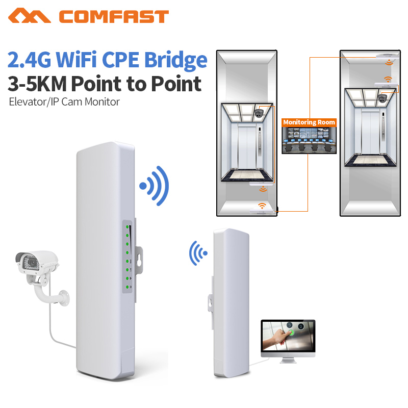 2.4G 500Mw High Power Wireless Router 3km Wifi Range Wireless CPE 300Mbps Wifi Repeater Bridge Wireless Gateway Outdoor CPE wireless wifi