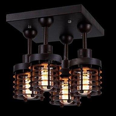 Loft Style Retro Ampoule Edison Vintage Industrielle Plafonnier Avec