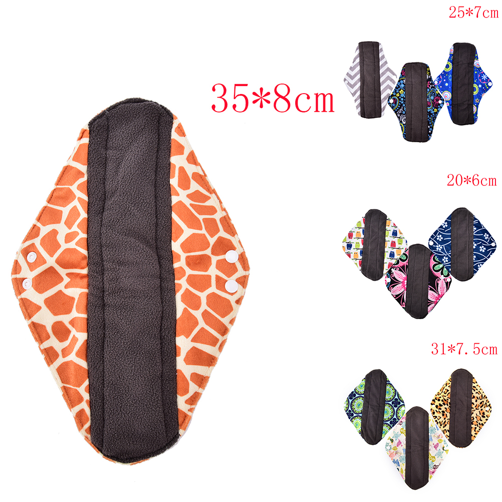 S/M/L paño de bambú reutilizable higiene bragas para la menstruación Pad lavable Menstrual Pad Mama toalla sanitaria Pad femenino para señora