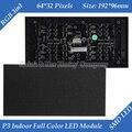1/16 3in1 digitalização RGB P3 interior cores LED módulo de LED 192 * 96 mm 64 * 32