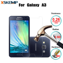 Tempered Glass 9H 2.5D Premium Screen Protector Film For Samsung Galaxy A3 A3000 Protective Guard Anti-glare No Fingerprint LCD