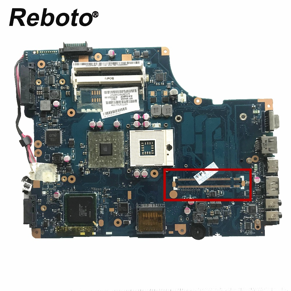 Reboto Laptop Motherboard Toshiba L500 DDR3 for K000092130/Kswaa/La-4982p/.. High-Quality
