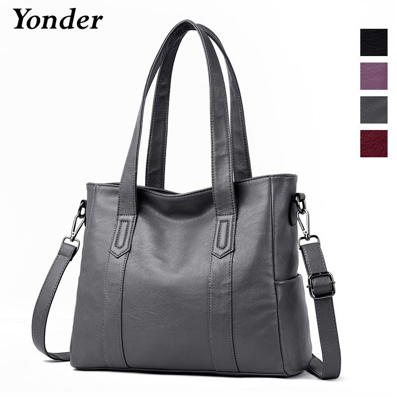 9419a4a70a5d Yonder women handbag genuine leather crossbody shoulder bags female casual tote  bag sheepskin leather messenger bags ladies Wine-in Shoulder Bags from ...