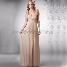Elegant Criss Cross bridesmaid dresses Chiffon Ruched wedding party gown Flowers Backless formal party vestido de casamento