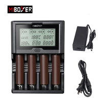Miboxer 4Slots 100mA 800mAh 3A LCD Screen Battery Charger for Li ion/Ni MH/Ni Cd 18650 14500 26650 AAA AA rechargeable batteries
